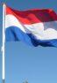 Nederlandse vlag van hoge kwaliteit